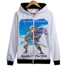 Zelda hoodie Kazak Oyun wild of Breath Hoodie Ceket Ceket Bağlantı Zelda Fanlar Kapşonlu Kabanlar Üst giysi