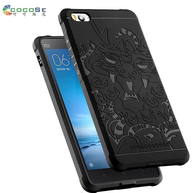 buy popular 24cfa 269cd US $9.69 |Xiaomi Mi4C Mi4i case soft silicone Cover COCOSE ultra thin matte  3D dragon anti knock phone coque fundas for Xiaomi Mi 4c mi 4i-in Fitted ...