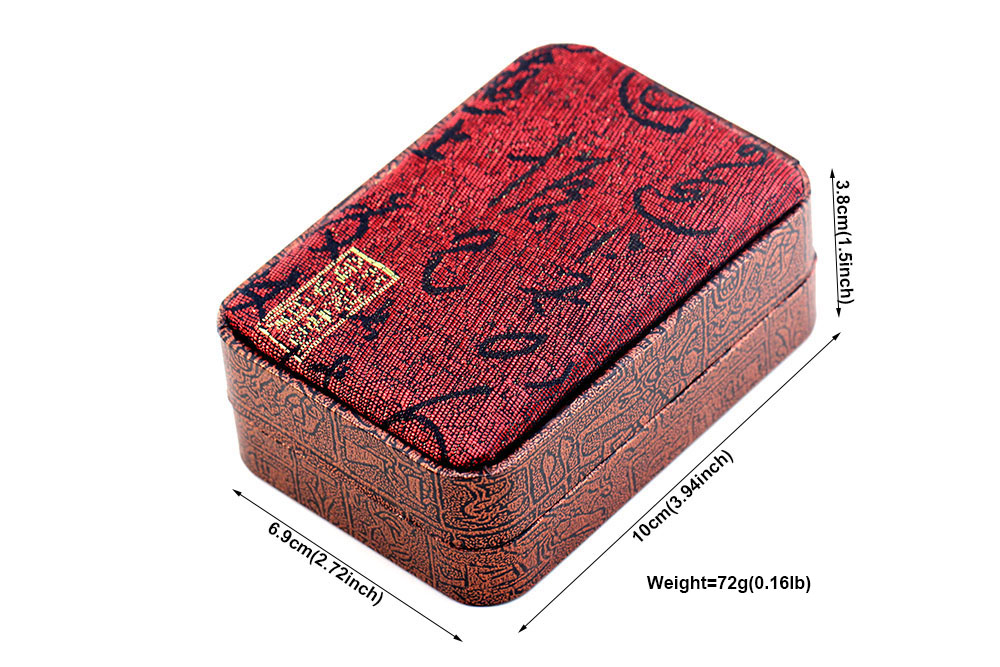 MMS Luxury Bracelet Flax Box 1pcs Capacity Chinese Style Wedding Red 1.5x3.94x2.72 inch Gift Packing Free Shipping