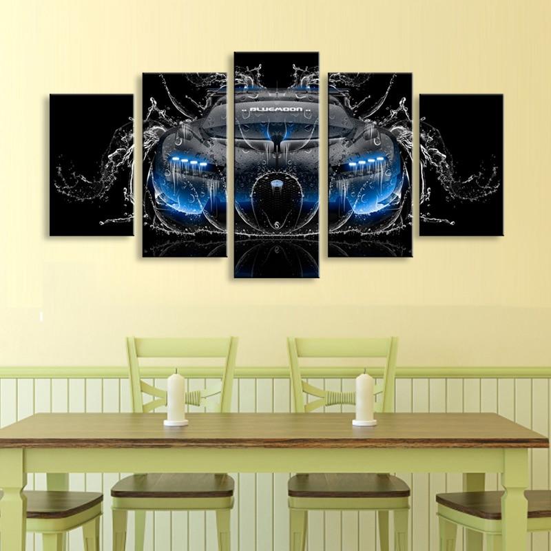 sans cadre Tableau imprim/é sur toile 5 panneaux Nurburgring Rallye Road Home Decoration Module pour salon 40 x 60 40 x 80 40 x 100 cm