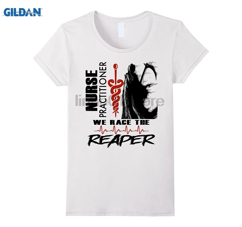 GILDAN Nurse Practitioner - We race the Reaper dress T-shirt