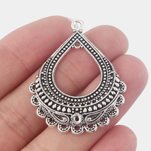 Buy chandelier earrings findings and get free shipping on aliexpress 10pcs ethnic antique silver hollow water drop chandelier earring findings connectors charms pendants diy jewellery findings mozeypictures Images