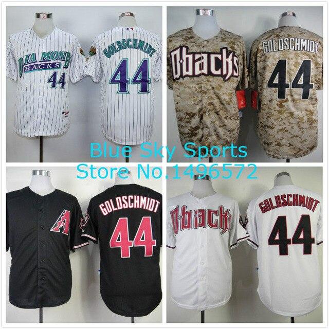 ... Arizona Diamondbacks Jersey 44 Paul Goldschmidt Jersey Cool Shirt  Stitched Throwback Baseball Jersey ...