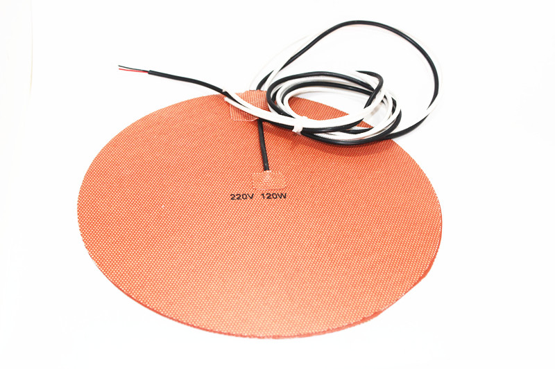Delta Kossel DIY 200 mm round silicone rubber heating plate film mat 12V 200W Round Silicone Rubber Heater Mat 200mm 180 mm wide 900 mm length silicone rubber heating plate heating belt bucket heater heating cable