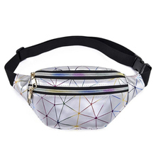 New 2019 Fashion Waist Bag Women Pink Silver Fanny Pack Belt Bags Black Geometric Laser Chest Phone Pouch For iPhone XS MAX