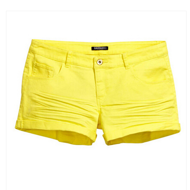 Online Shop Women Summer Candy Color Pockets High Waist Shorts ...