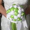 2016 nueva cristal de Encargo Artificiales Flores de Seda Rosa Ramo de la Boda Flores buque de noiva Nupcial Ramo de La Boda de dama de Honor