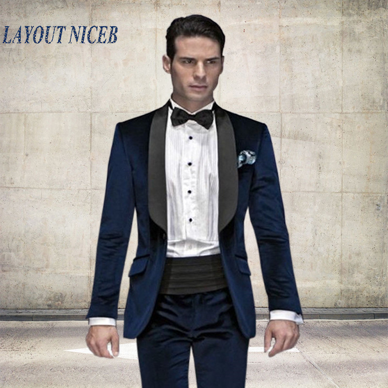 Online Get Cheap Navy Blue Suit Men Groomsmen -Aliexpress.com ...