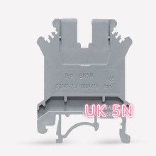 Pure copper din rail terminal block UK5N din rail mount 4MM UK-5N 4 Square цена