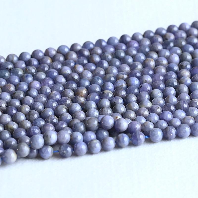 Dedicated Natural Genuine Tanzania Blue Tanzanite Semi-precious Stones Round Loose Beads 8mm 05321 Jewelry & Accessories