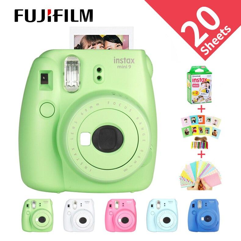 Nouveau Fujifilm InstaxMini 9 cadeau gratuit pour Polaroid InstantPhoto caméra film caméra 5 couleurs photo instantanée