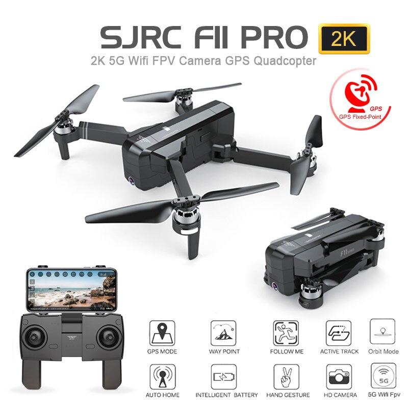 SJRC F11 PRO professionnel GPS 5G WiFi FPV Drone pliable avec caméra 1080P 2K HD sans balai RC quadrirotor hélicoptère jouet VS SG906