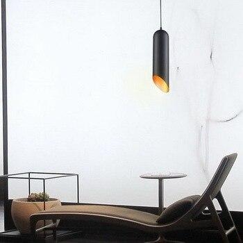 Moderne Woninginrichting Wit/Zwarte Enkele Kop Vintage Hanglamp Koffie Winkel Licht Eetkamer Licht Gratis Verzending