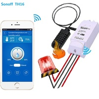 Sonoff Th 16a 10a Temperature And Humidity Monitoring WiFi Smart Switch Controller Sensor With Timer Wireless