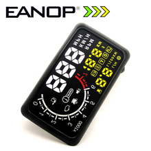 Car HUD Head up Display HUD 5.5 Alar Sistema OBD ii Car Styling Car Kit de combustible de Exceso de velocidad KM/H EANOP 5.5PRO