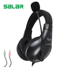 Salar A566 3.5mm Earphone Gaming Headset Headphone With Microphone Mic PC Game Stereo Gaming Headphone For Computer(China)