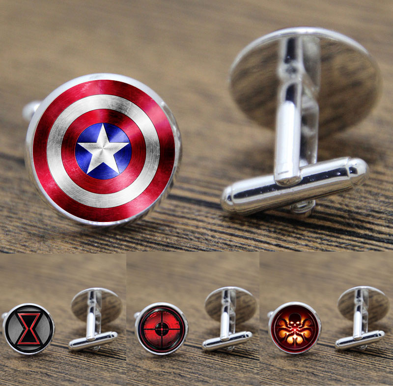 Superhero Cuff Links Super Hero  Avengers Cufflinks Captain America Cuff Button Thor Cufflinks Cuff Links For Men Boys
