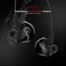 2018 new Original KZ ZSR 2BA+DD 6 drive Dynamic Hybrid Earphone HIFI bass free Change the cable Bluetooth music sports headset