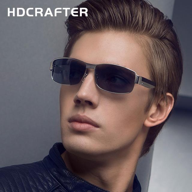 Nova Moda de Alta Qualidade do Metal do Retângulo do Quadro Lente Polarizada Homens Óculos de Sol Masculino Óculos de Condução Óculos de Sol
