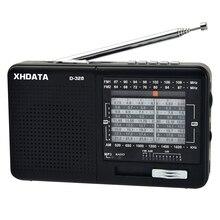 XHDATA D-328 FM радио AM SW Портативный коротковолновое радио группа MP3 плеер с разъем карты памяти