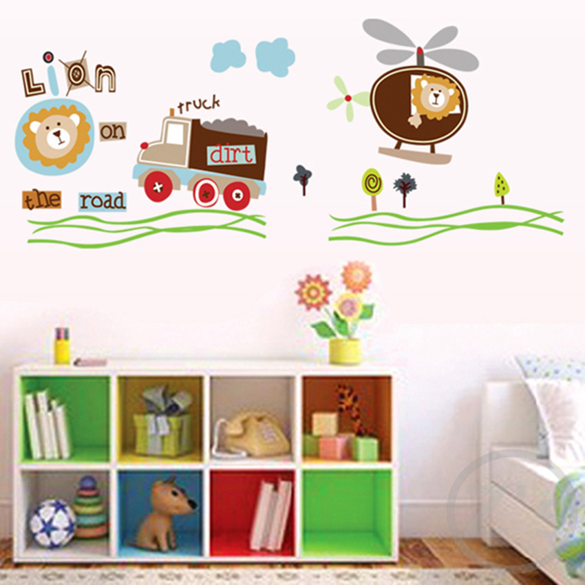 Lions Wall Stickers For Kids Rooms Daycare Decorations Nursery Decor Children Mural Decal In From Home Garden On Aliexpress