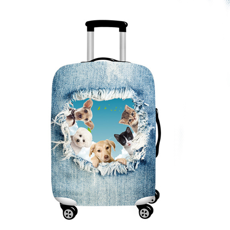 7f70e656c JULY'S SONG Luggage Cover Travel Suitcase Animal Prints Protector Suit 18 32 ''Suitcase Dog Cat Trolley Case Travel Accessories-in Travel Accessories  from ...