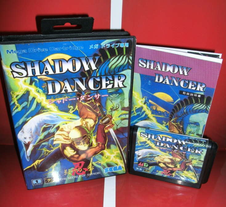Shadow Dancer The Secret of Shinobi Japan Cover with Box and Manual for MD MegaDrive Genesis