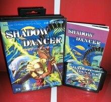 Тени танцор-секрет SHINOBI Япония крышка с коробкой и руководством для MD megadrive бытие игровой консоли 16 бит md карты
