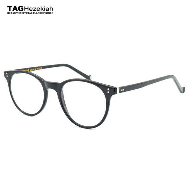 b8459df6ae2 2018 new Round glasses frame women Brand computer glasses eyeglasses frames  men design frame glasses Black