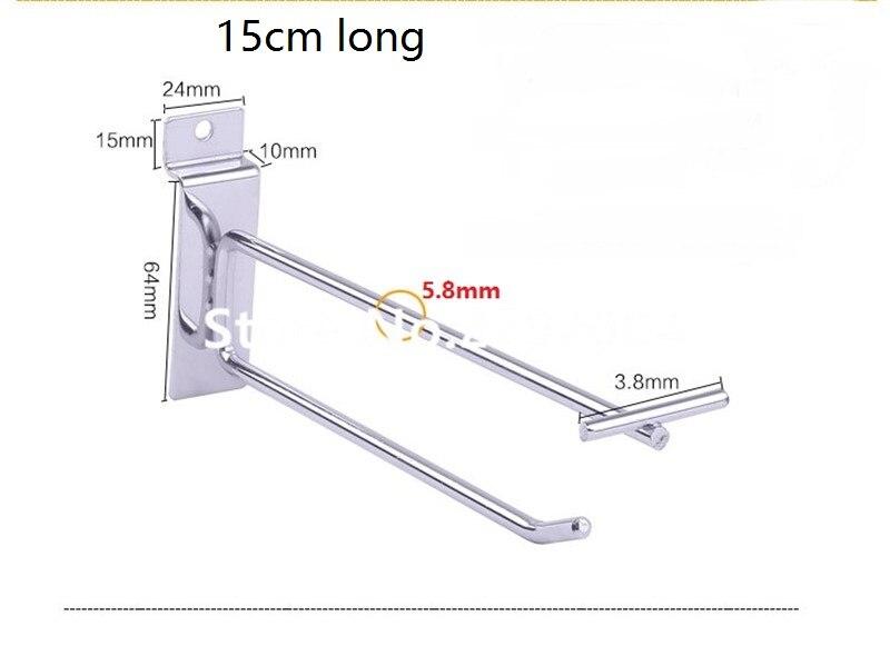 все цены на (100 pcs/pack ) 15cm Length 6mm Diameter pegboard/slatwall supermarket display hooks anti-theft security hook онлайн