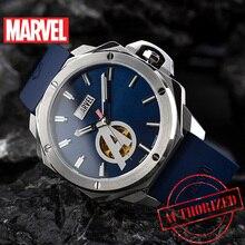 Disney resmi orijinal Marvel demir adam otomatik mekanik saat içi boş deri kayış paslanmaz çelik sınırlı sürüm 2019