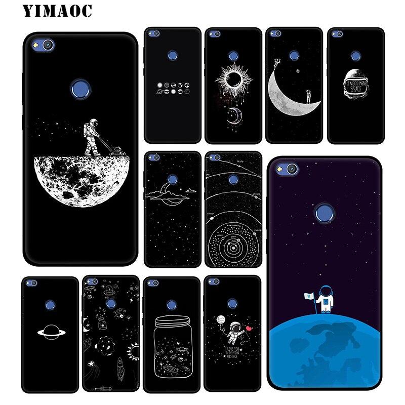 YIMAOC Moon Stars Cut Sweet Case For Huawei Mate 20 10 P20 Pro P10 P9 P8 Lite 2015 2017 P Smart & Nova 3 3i