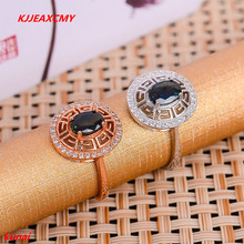 KJJEAXCMY fine jewelry 925 925 silver inlaid natural sapphire ring color gemstone jewelry simple and generous.