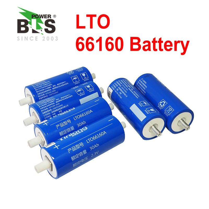 NÃO 6 pcs LTO 66160 2.4 v 30Ah 40AH 10C 300A para 12 Titanato De Lítio 2.3 v Célula de Bateria v poder 14.4 v carrinho de golfe EV do Ciclo de Vida Longo