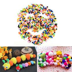 1000 шт. 10 мм игрушки Ремесла Круглые помпоны мягкие пушистые Помпоны для детей смешанные цвета