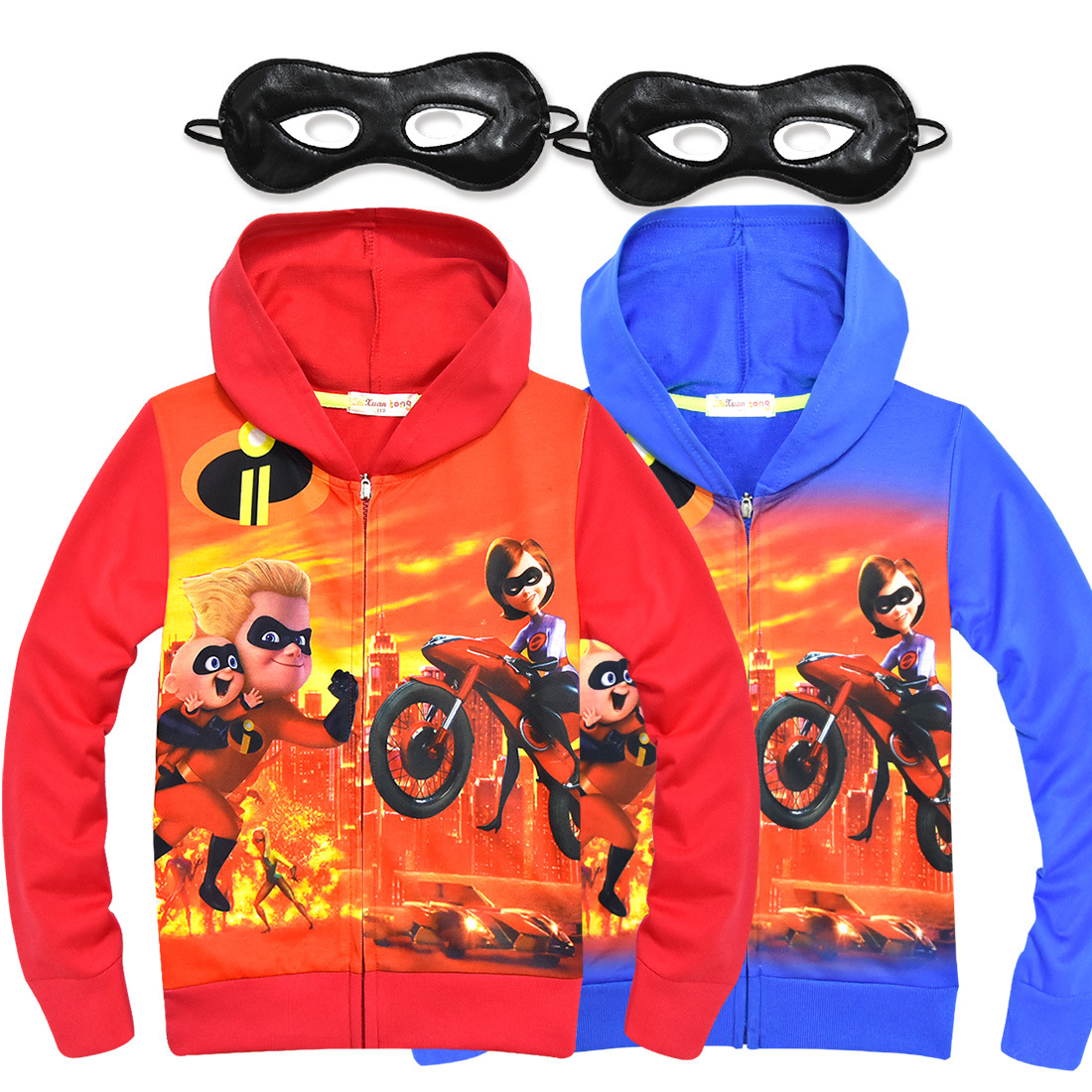 Kids The Incredibles 2 Cartoon Hoodies Sweatshirt Spring Autumn Hoodie Outwear Coat Top Children's Halloween Cosplay Costume