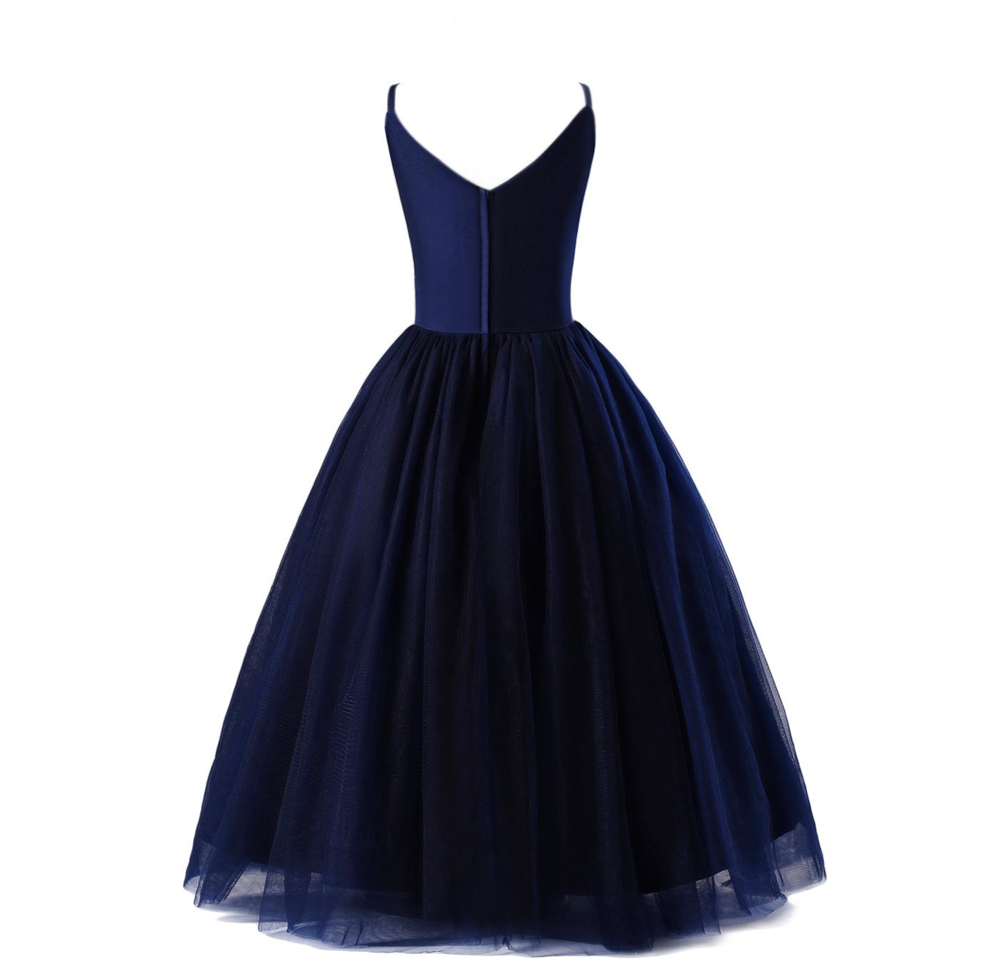 302daafd29cc BBWOWLIN 4 10 Years Navy Blue Flower Girl Dress Wedding Birthday ...