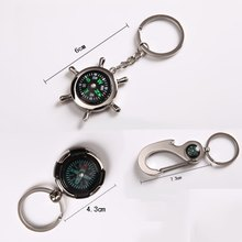 Outdoor Survival Key Ring Compass Mini Pocket Brass Watch Style Ring KeyChain 2018 New Arrival(China)
