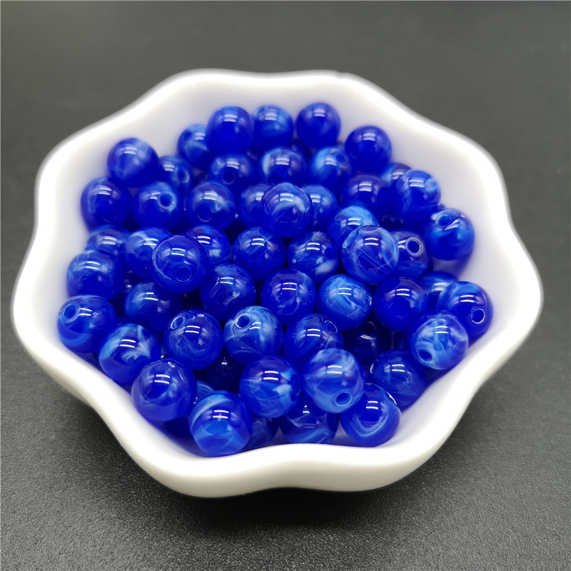 6, 8, 10 мм, Имитация натурального камня, круглые акриловые бусины с эффектом облаков, бусины для изготовления ювелирных изделий, браслет, ожерелье, аксессуары DIY