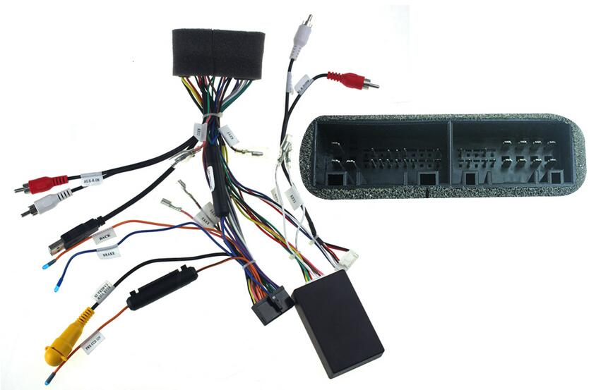 joying aftermarket car audio radio stereo wiring installation parts car stereo wiring colors joying aftermarket car audio radio stereo wiring installation parts wire harness with canbus box for hyundai ix35 in cables, adapters & sockets from