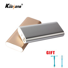 KuChong Portable Power Bank 12000 mAh 2 USB Charger External Battery Pack Powerbank for All Phone+ LED Light + Fan Fast Shipping