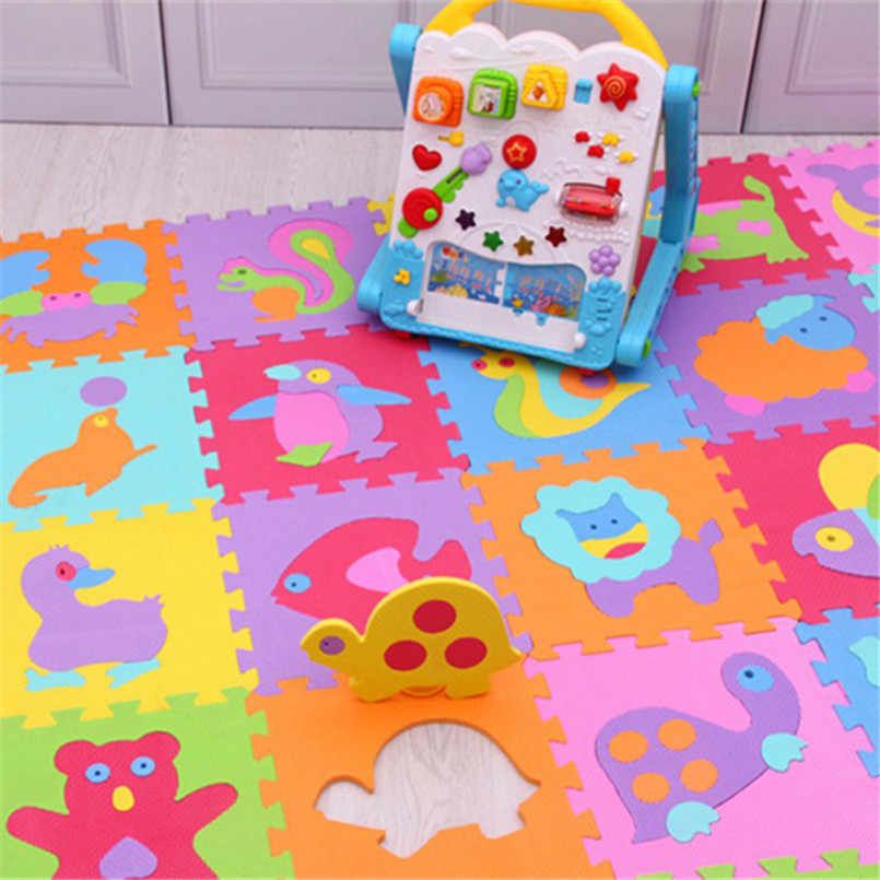 9 шт./компл. EVA пенопластовый детский игровой коврик, сшитый коврик для ползания, детский коврик Kruipen, собранный животный ковер-головоломка, коврик для детских игр