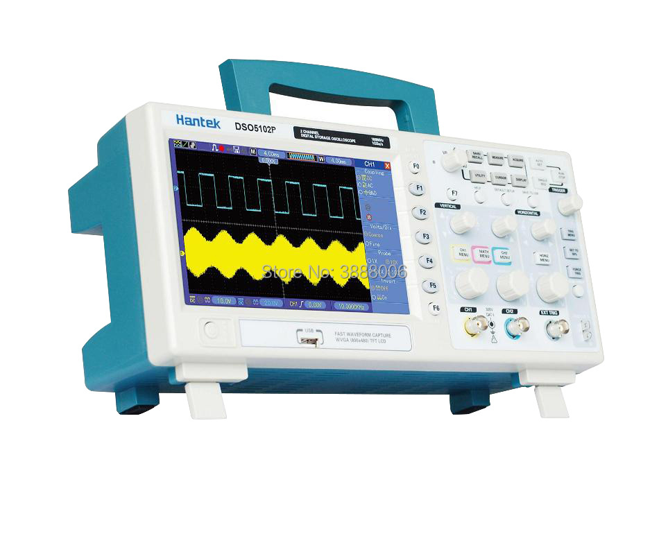 Hantek DSO5102P Digital Oscilloscope Portable 100MHz 2Channels 1GSa/s Tft Lcd USB Osciloscopio Handheld Oscilloscopes