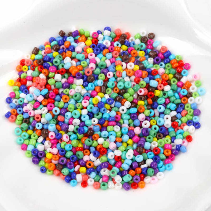 18 màu sắc 2mm 1000 PCS 3mm 500 chiếc Kính Pha Lê Không Gian Siêu Tốc hạt, soild Hạt Giống Hạt Trang Sức Handmade DIY BLSS02X