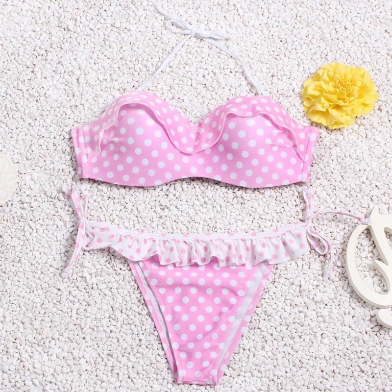 Brazilian Bikini set String Reversible Bathing Suit Halter High Neck Bikinis Women Swimwear Swimsuit Biquinis maillot de bain 3