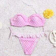 Brazilian Bikini set String Reversible Bathing Suit Halter High Neck Bikinis Women Swimwear Swimsuit Biquinis maillot de bain