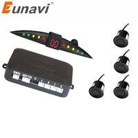Eunavi Buzzer Car Parking Sensor Kit Backup Radar Sound Alert Indicator Probe System 4 Sensors 22mm