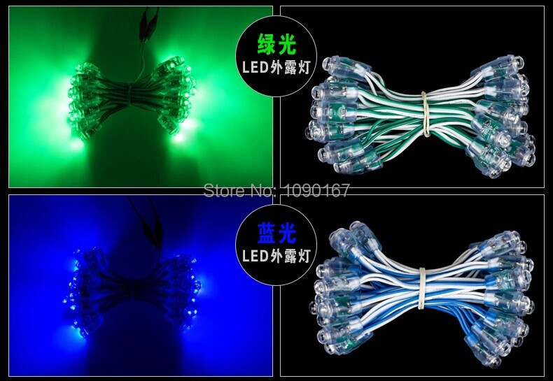 Waterproof Outdoor 12mm Single Color LED Pixel Module,Blue High Brightness LED Advertising String Light