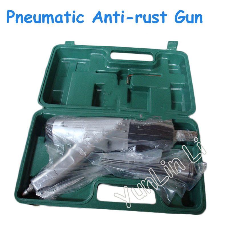 Pneumatic Needle Anti rust Gun Rust Removal Air Needle Scaler Pneumatic Derusting Gun with Plastic Box JEX 28