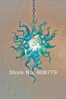 Free Shipping New Design Art Lighting Blown Glass Blue Chandelier